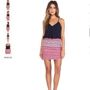 Greylin Blue Pink SORAYA Dress Small
